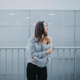 Stickade tröjor för Kvinnor