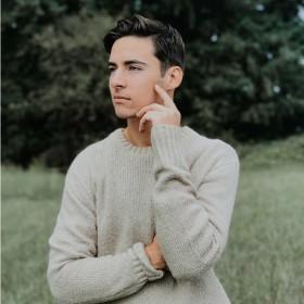 Stickade tröjor för Män