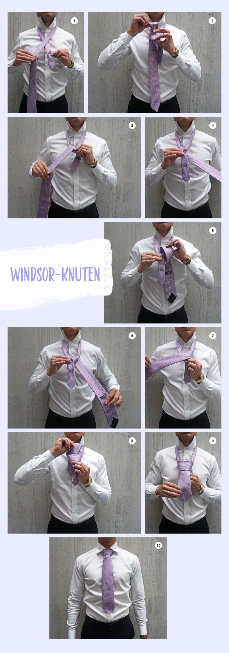 Hur man knyter en slips på 4 olika sätt