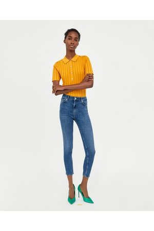 Zara Kvinna High waist - JEANS HIGH WAIST LIGHT BLEND