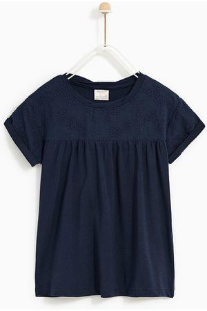 Zara T-SHIRT MED BRODYR - Finns i fler färger