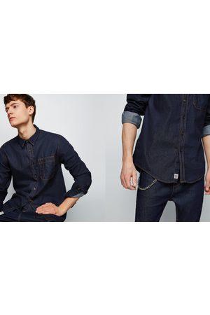 Jeansskjorta herr zara