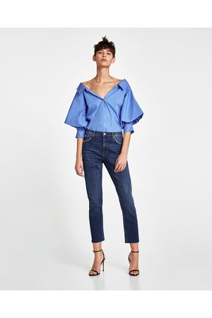 Zara JEANS VINTAGE HIGH WAIST SUNSET BLUE
