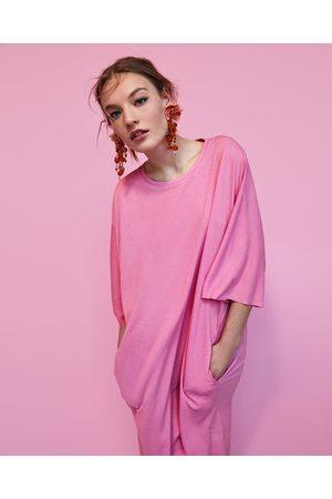 Zara OVERSIZE-TUNIKA MED TEXTUR - Finns i fler färger