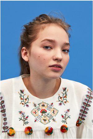 Zara TUNIC WITH POMPOM TRIMS