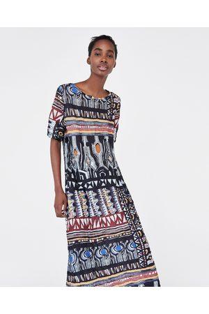Zara WRINKLED-EFFECT PRINTED DRESS