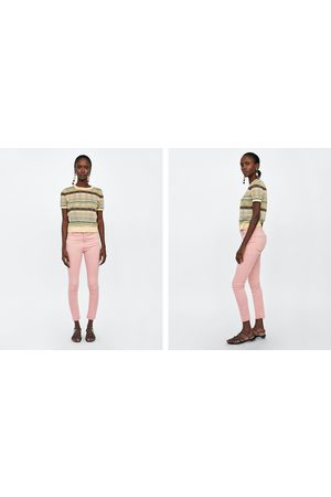 Zara JEANS HIGH WAIST SKINNY IN SOHO PINK