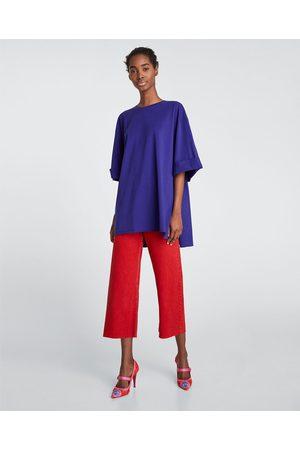 Zara Kvinna Casual - OVERSIZE-T-SHIRT - Finns i fler färger