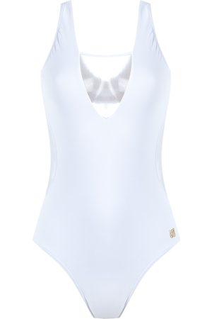 Brigitte Square neck tulle swimsuit