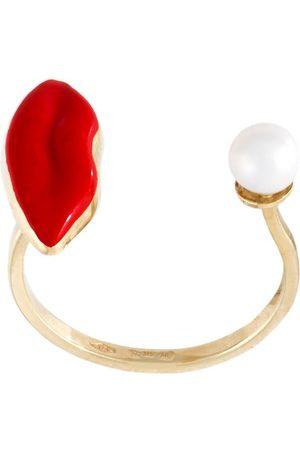 DELFINA DELETTREZ Kvinna Ringar - Lips piercing' ring