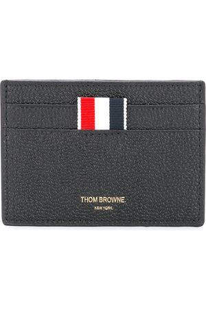 Thom Browne Credit Card Holder In Black Pebble Grain