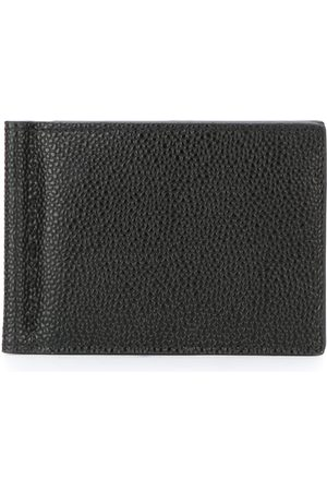 Thom Browne Money Clip Wallet In Black Pebble Grain