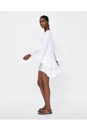 Zara plisserad kvinna blusar   tunikor 1b79cda0379e8