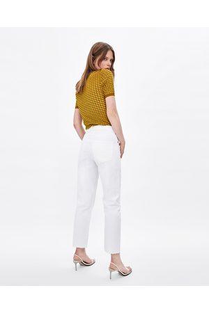 Zara JEANS NEW STRAIGHT WHITE