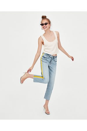 "Zara JEANS HI-RISE STRAIGHT LEG ""AUTHENTIC"""
