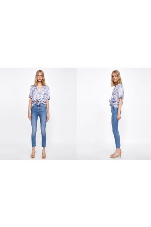Zara JEANS HIGH WAIST BROOME BLUE