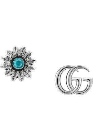 Gucci Stiftörhängen med blomma och GG-logotyp