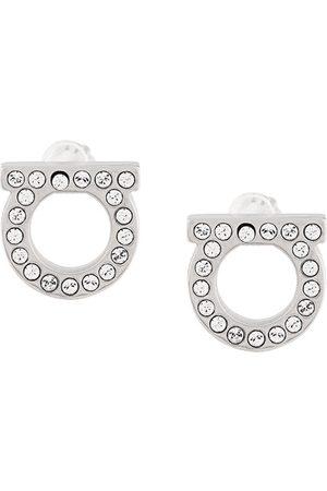 Salvatore Ferragamo Gancini crystal embellished stud earrings