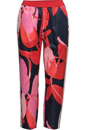 Coster Copenhagen Kvinna Byxor - Trousers W. Branch Print & Stripe Casual Byxor Rosa
