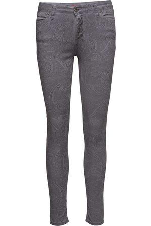 Please Kvinna Skinny - Catwoman Grey Paisley Skinny Jeans
