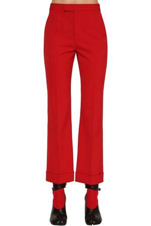 Maison Margiela Kvinna Trekvartsbyxor - Wool Blend Cropped Pants