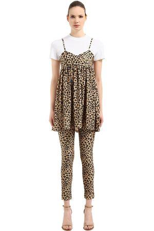 VIVETTA Kvinna Mönstrade klänningar - Leopard Printed Dress & T-shirt