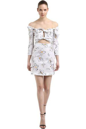 ISA ARFEN Kvinna Mönstrade klänningar - Floral Printed Cotton Mini Dress