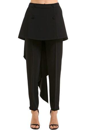 ANTONIO BERARDI Kvinna Stretchbyxor - Stretch Cady Pants W/ Skirt Panels