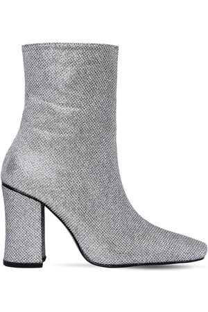 DORATEYMUR 90mm Glitter Fabric Ankle Boots
