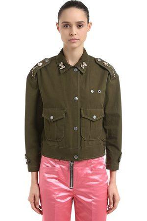 Coach Embellished Cotton Field Jacket