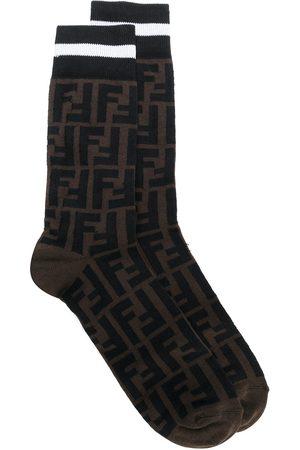 Fendi Mönstrade strumpor med logotyp