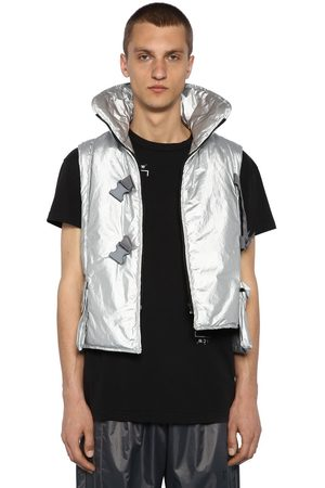 A-cold-wall* Man Jackor - Metallic Nylon Padded Cropped Vest