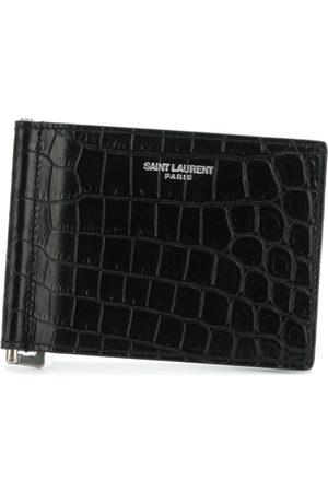Saint Laurent Plånbok med korthållare och logotyp