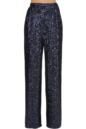 INGIE Wide Leg Sequined Pants