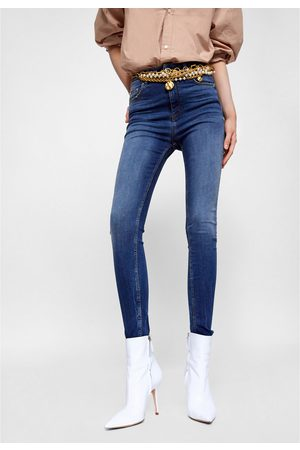 Zara JEANS HIGH WAIST SPRING BLUE