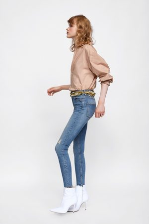 Zara JEANS HIGH WAIST MERCER BLUE