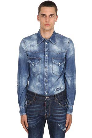 Dsquared2 Western Bleached Denim Shirt