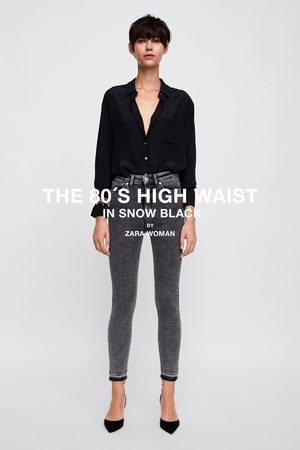 Zara JEANS ZW PREMIUM 80S HIGH WAIST SNOW BLACK