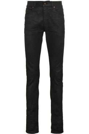 Saint Laurent Skinny-jeans med belagd yta