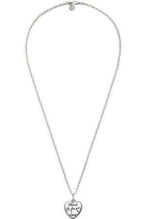 """Gucci """"Blind For Love"""" necklace in silver"""