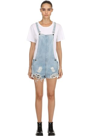 The People Vs Kvinna Jumpsuits & Playsuits - Joan Repatched Destroyed Short Overalls