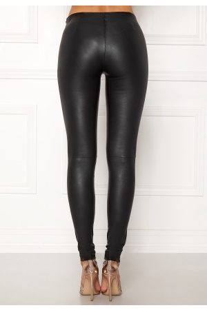 Selected Sylvia Leather Legging Black 42