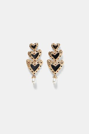 Zara HEART DANGLE EARRINGS