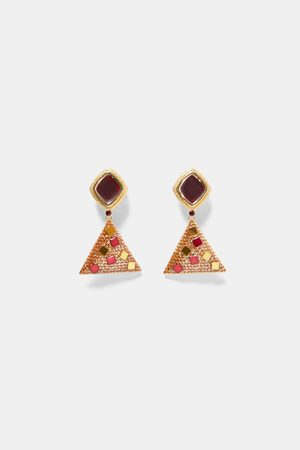 Zara TRIANGLE DANGLE EARRINGS