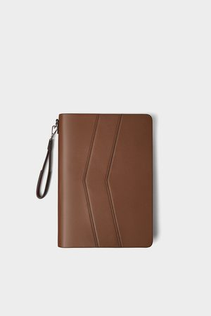 Zara BROWN CLUTCH
