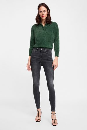 Zara JEANS ZW PREMIUM HIGH WAIST SKINNY POWDER GREY