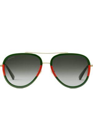 Gucci Pilotsolglasögon i metall
