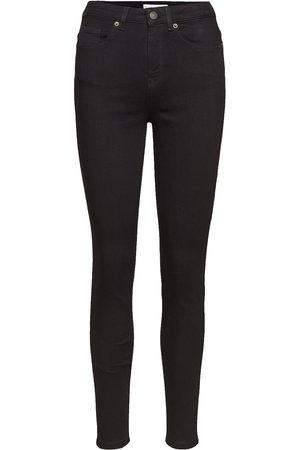 Selected Slfmaggie Hw Skinny Black Jeans W Noos Smala Byxor Stuprör