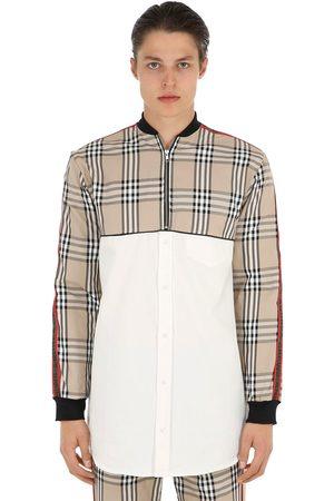 ANDREA CREWS Man Bomberjackor - Bomber Shirt W/ Checked Panels