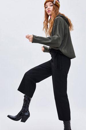 Zara CULOTTEBYXA MED KNYTNING